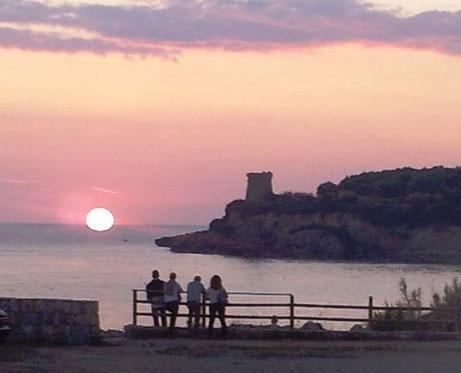 Spiaggia Calanca, tramonto