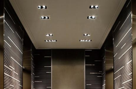 Project Led inbouwspots vierkant rechthoekig cardanisch dimbaar restaurant winkel etalage showroom BBM Ledproducts