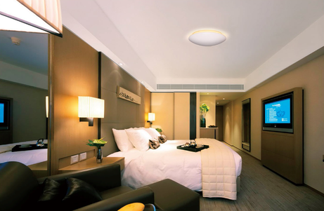 Project Led opbouwspots rond mat dimbaar indirect hal hotel trappenhuis portiek BBM Ledproducts
