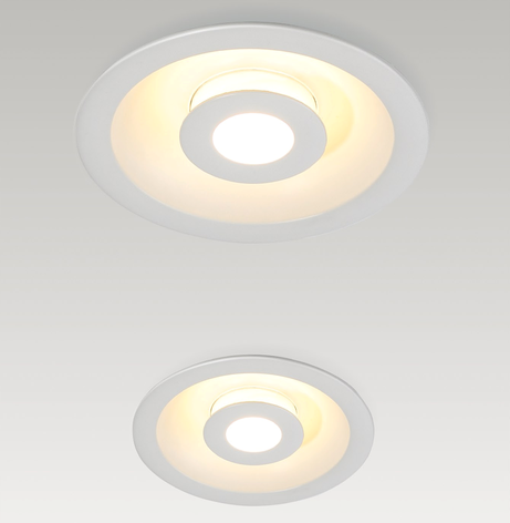 Led inbouwspots rond mat dimbaar indirect hal trappenhuis portiek BBM Ledproducts