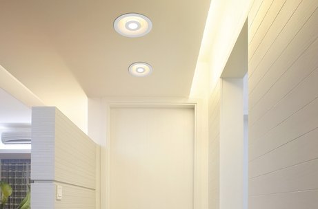 Project Led inbouwspots rond mat dimbaar indirect hal hotel trappenhuis portiek BBM Ledproducts