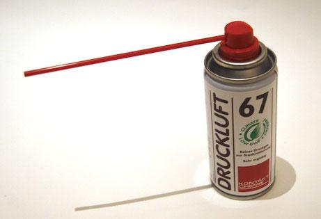 Foto 11: Druckluft-Dose | Beispiel: Kontakt Chemie 67