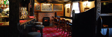 The Plume of Feathers country pub on the Hampshire Surrey border