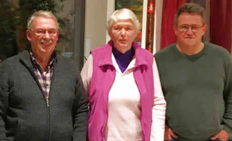 v.l. Lutz Nieland, Isolde Knauber, Peter Wieland