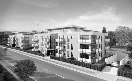 Der Immobilienmakler Matthias Pfeifer vermittelt Immobilien im Rhein-Main-Gebiet. Neubauprojekt Gemini in Neu-Isenburg mit 30 Wohnungen, Penthouse und Tiefgarage