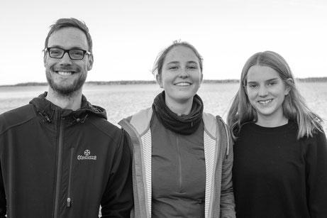 v.l. Patrick Vitt, Hanne Reimann und Klara Santel