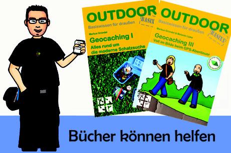 Titelbild: Geocaching Bücher können helfen