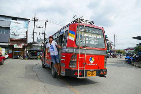 Mit dem public bus von phang nga town nach khura buri