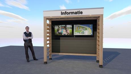 3D ontwerp informatiebord camping Scheldeoord