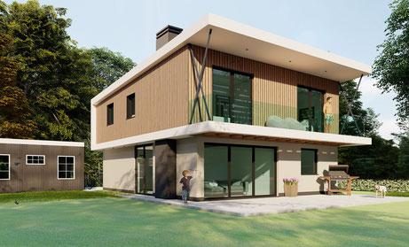 3D ontwerp opbouw vakantiewoning te Kamperland