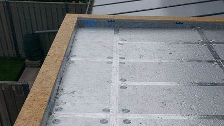 Isolatie dak aanbouw met PIR