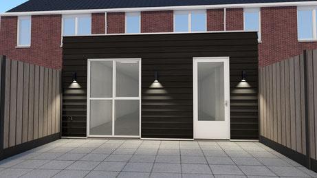 Ontwerp aanbouw woning Noordhoek Goes