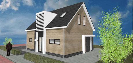 3D ontwerp vrijstaande woning te Zevenhuizen