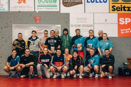 Mit 18 Teilnehmern konnten sich die Organisatoren des 2. Geseker Brettchen-Turniers mehr als zufrieden geben. Foto: Jan Koch