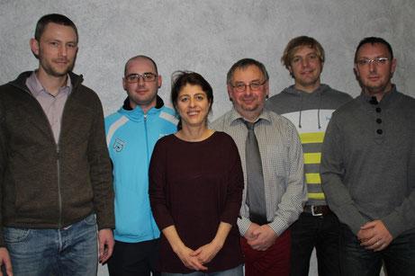 v.l: Florian Mantel, Markus Dietz, Daniela Beck, Helmut Zirnsak, Tobias Ziegler und Timo Zirnsak