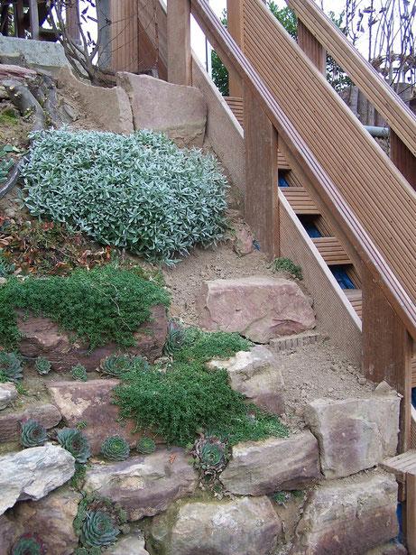 Ansicht der linken Treppenseite