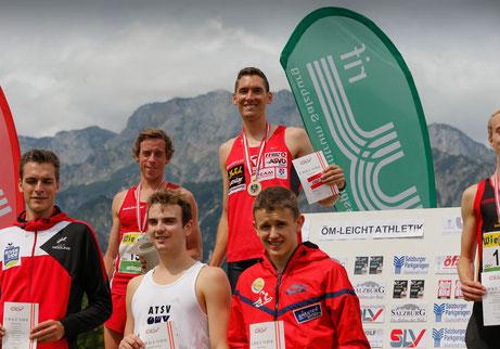 Mit 1500m Siegespodest mit Andi Vojta auf Rang 1 und Brenton Rowe auf Rang 2