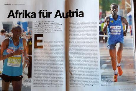 """""""Afrika für Austria"""" - im aktuellen Sportmagazin"""