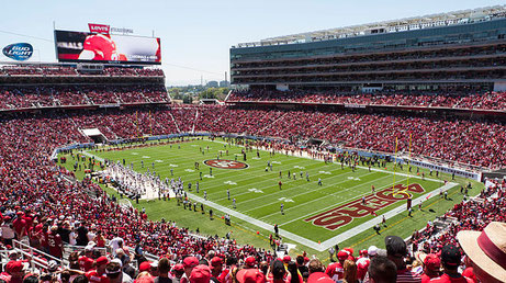 NFLスーパーボウル 2016が実施されるLevi's Stadium CC BY 2.0 Jim Bahn