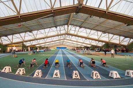 ...die 60 Meter Sprint Strecke in der Mannheimer OSP Halle war am Sonntag fest in DJK Hand bzw. Fuß ;-) ;-)..