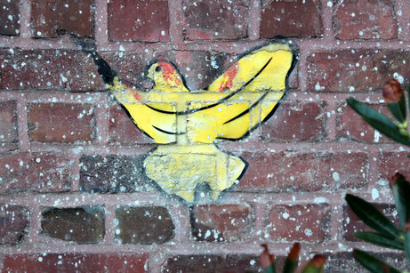Graffito einer Taube