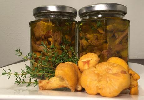 Eierschwammerl in Olivenöl