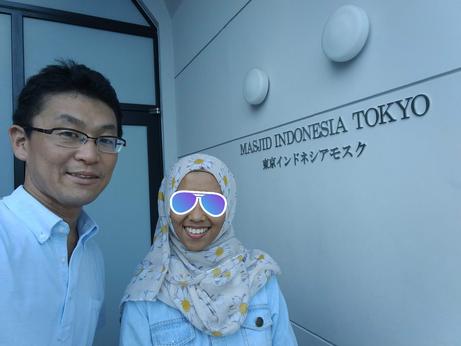 アテンドしたインドネシアの大学生と東京・目黒にて