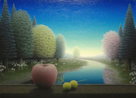 「流れゆく空」 P8   油彩・キャンバス