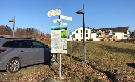 Parkplatz westlich des Golfpanoramas