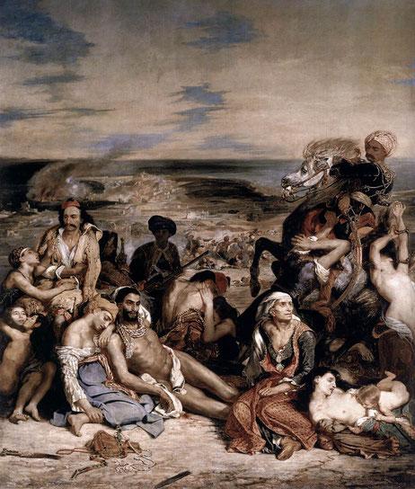 《キオス島の虐殺》1824年