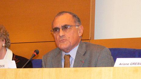 Mr. Guy Aurenche, Président de CCFD-Terre solidaire.