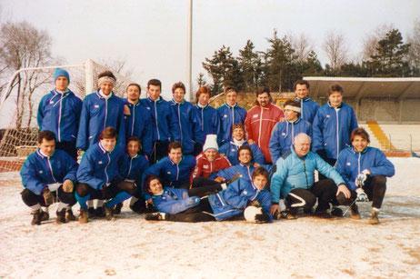 1990-91 Serie C2 Gruppo all'allenamento