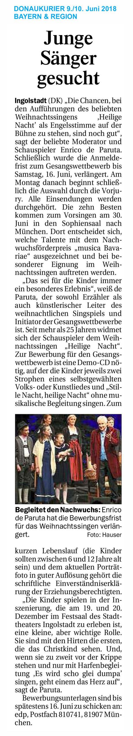 Donaukurier vom 9./10.6.2018