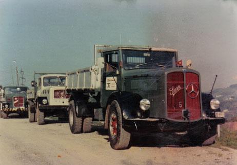 Die Jakob Gschwend AG war schon zu ihren Anfangszeiten eine Pionierin im Transportwesen: Als eine der ersten Transportfirmen in St.Gallen führte sie den ÖAF 3-Achs-Kipper ein.