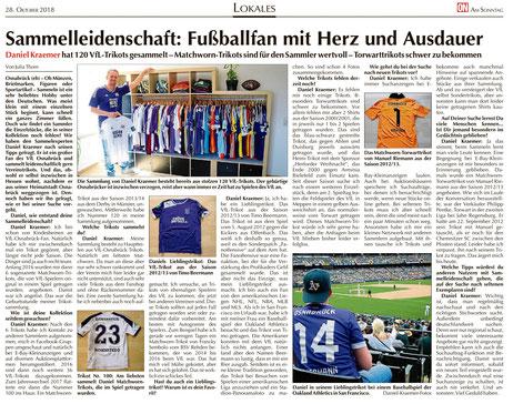 ON Interview VfL Osnabrück Trikot Trikotsammlung vom 28.10.2018