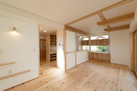 桧の床 床暖房