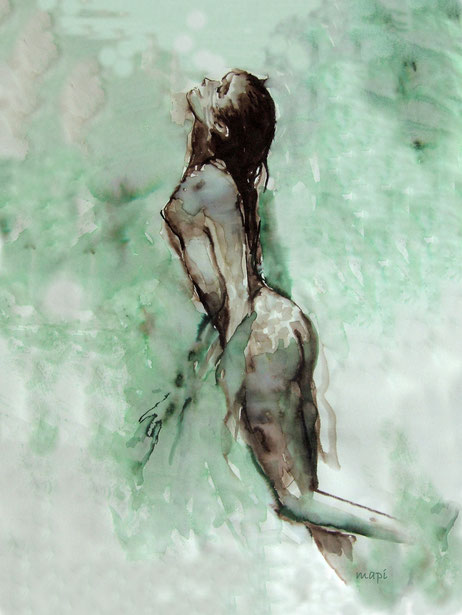Aquarelfantasie, Swimming up
