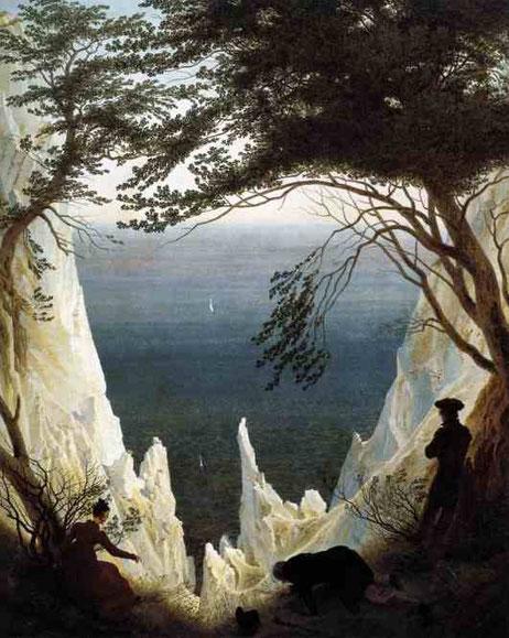 Известковые скалы Ругена. 1818