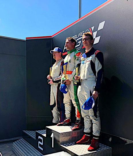 Rennfahrer aus Bad Salzuflen Dennis Bröker Chevrolet Cruze Eurocup 2020 Salzburgring Österreich Siegerpodest