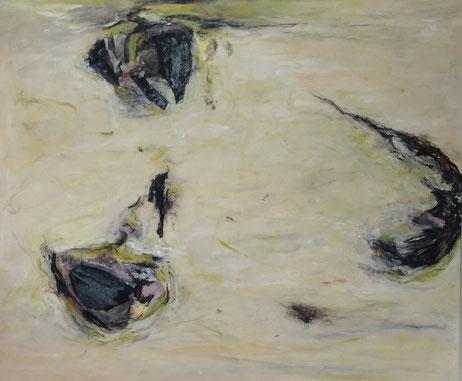 Fragmente, Mischtechnik, 100 x 120 cm, 2016