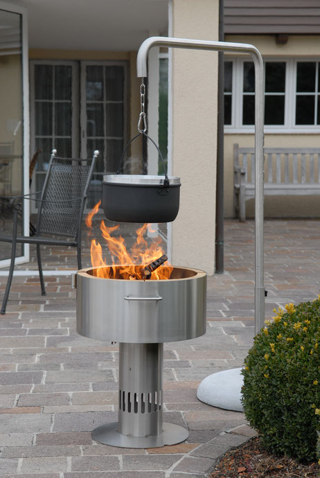 Fire-Pot Grill Kochen