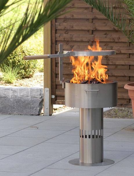 Fire-Pot grillieren