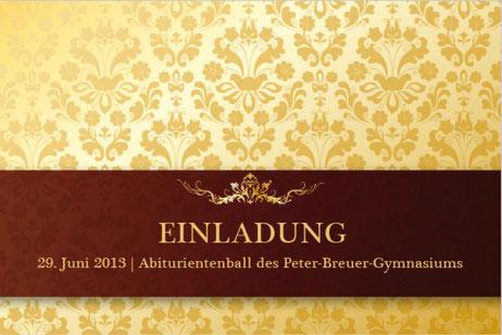 PETER-BREUER-GYMNASIUM ZWICKAU | Einladung Abiball, Web Kartenverkauf