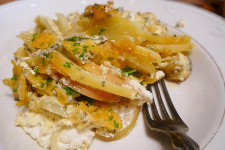 Herzhafter Kartoffel-Apfel-Auflauf, vegetarisch oder vegan, glutenfrei