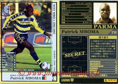 N° LE11 - Patrick M'BOMA (1994-97, PSG > 2000-02, Parme, ITA)