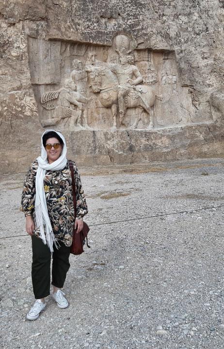 Rilievo del re sasanide Shapur I - Naqsh-e Rustam, Iran