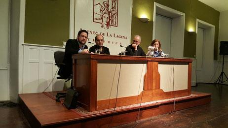 Cecilia Domínguez Luis, Ernesto Suárez, Roberto García de Mesa y Daniel Bernal Suárez