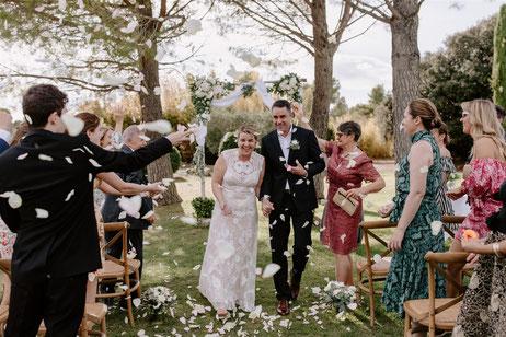 Sortie de cérémonie départ des mariés en fin de cérémonie
