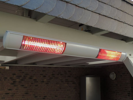 Abstand zur Wand für einen Infrarot Wärmestrahler