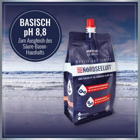 Nordseeluftwasser Basisch - 500 ml Pouch